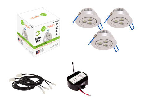 MIDTOWN 2.0 LED Recessed Dimmable Kit (Silver)