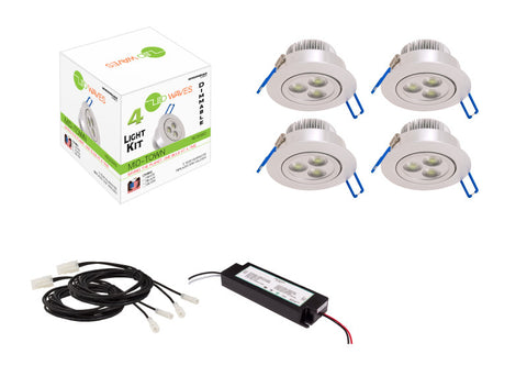 MIDTOWN LED Recessed Dimmable 4-Light Kit (Silver)