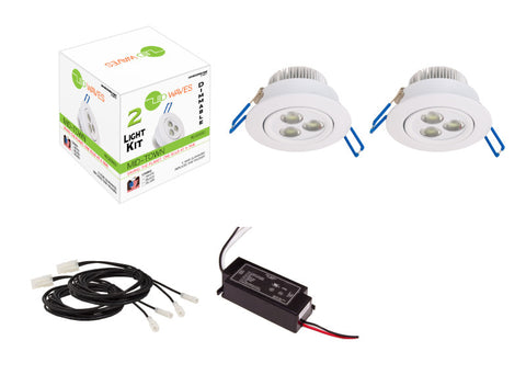 MIDTOWN LED Recessed Dimmable 2-Light Kit (White)