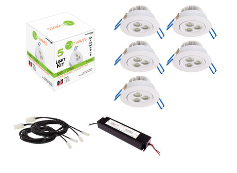 MIDTOWN LED Recessed Dimmable 5-Light Kit (White)