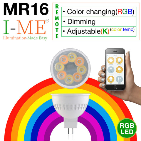 I-ME RGB & Adjustable Whites Bluetooth MR16 LED Bulb