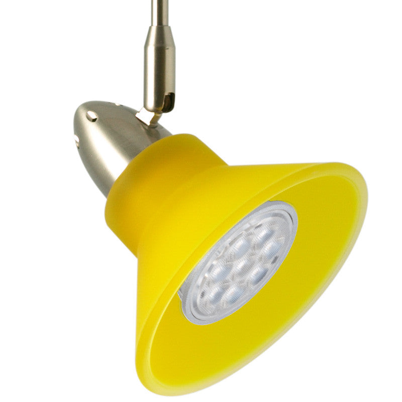 Neo cone led track light kit yellow 12 volt dimmable or non neo cone yellow flex ii led track lighting kit mozeypictures Image collections