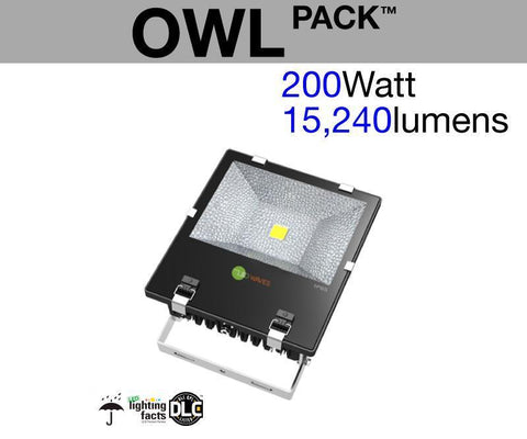 OWL Pack™ Outdoor LED Flood Light (200 Watt)