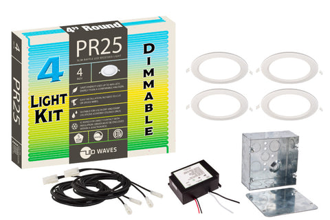 "PR25 ULTRA-THIN Baffle 4"" Dimmable LED Recessed Light Kit"