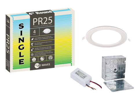 "PR25 ULTRA-THIN Baffle 4"" LED Recessed Light"