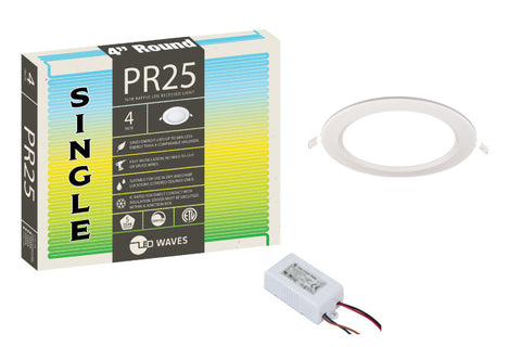 pr25 ultra thin baffle led recessed light kits and fixtures led