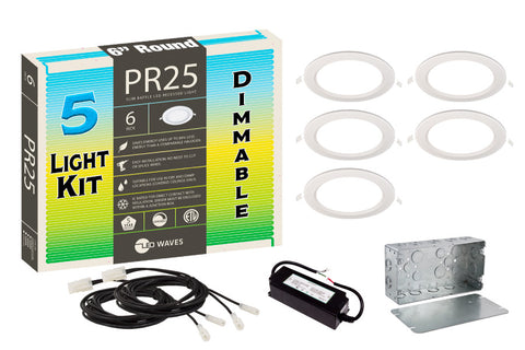 "PR25 ULTRA-THIN Baffle 6"" Dimmable LED Recessed Light Kit"