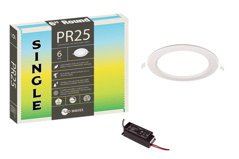 "PR25 ULTRA-THIN Baffle 6"" LED Recessed Light"