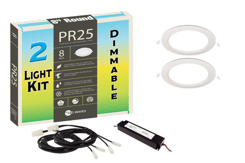 "PR25 ULTRA-THIN Baffle 8"" Dimmable LED Recessed Light Kit"