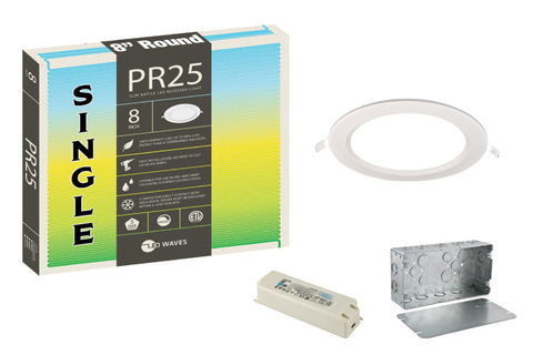 "PR25 ULTRA-THIN Baffle 8"" LED Recessed Light"