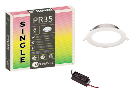 "PR35 6"" Baffle Trim LED Recessed Light"