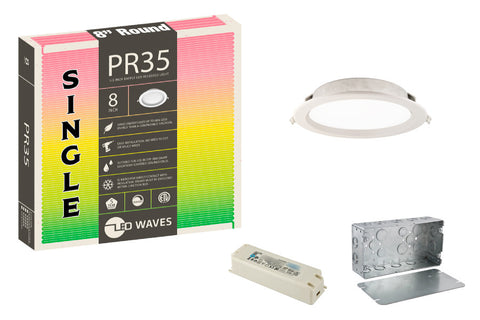 "PR35 8"" Baffle Trim LED Recessed Light"
