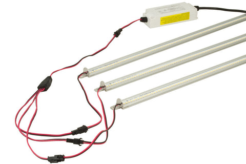 QIK Troffer Retrofit LED Light Bars, splitter cable, LED driver
