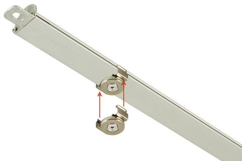 QIK Troffer Retrofit LED Light Bars; magnetic clip