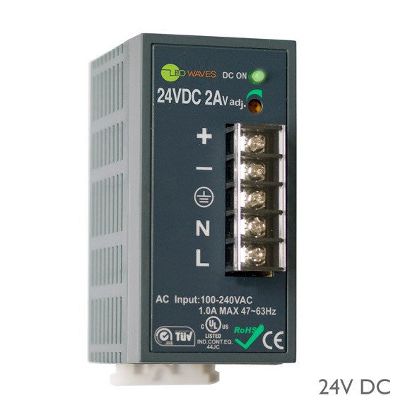 24 Volt DC Remote Power Supply (LED driver, 48 Watt)