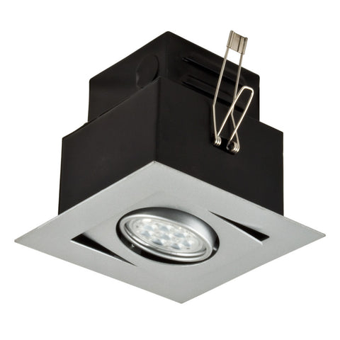 LED ALPHA STUDIO Recessed Light Unit (Silver finish, 1x1)
