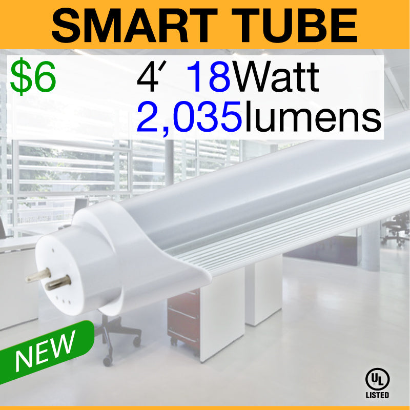 SMART T8 Electronic Ballast Compatible LED Tube (4ft)