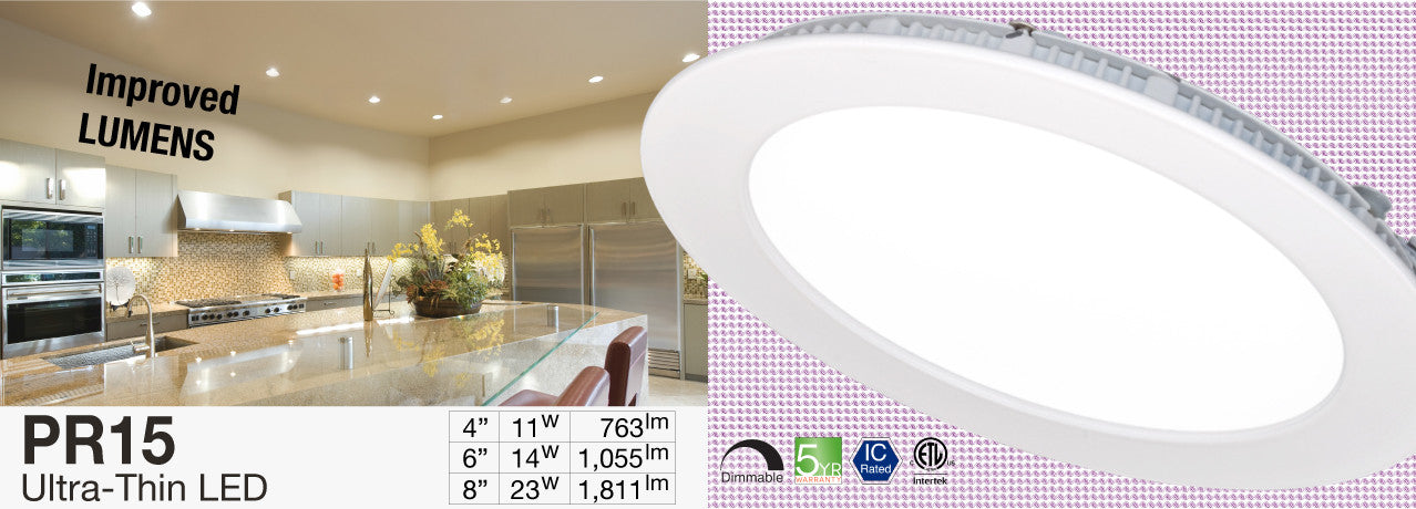 PR15 Ultra-thin LED Recessed Light