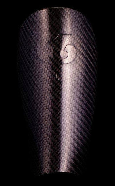Soccer/Football - Handmade 100% Carbon Fiber Shin Guards - Gen 3 Front