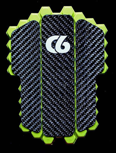 Soccer/Football - Hex Elite Carbon - Handmade 100% Carbon Fiber Shin Guards - Front
