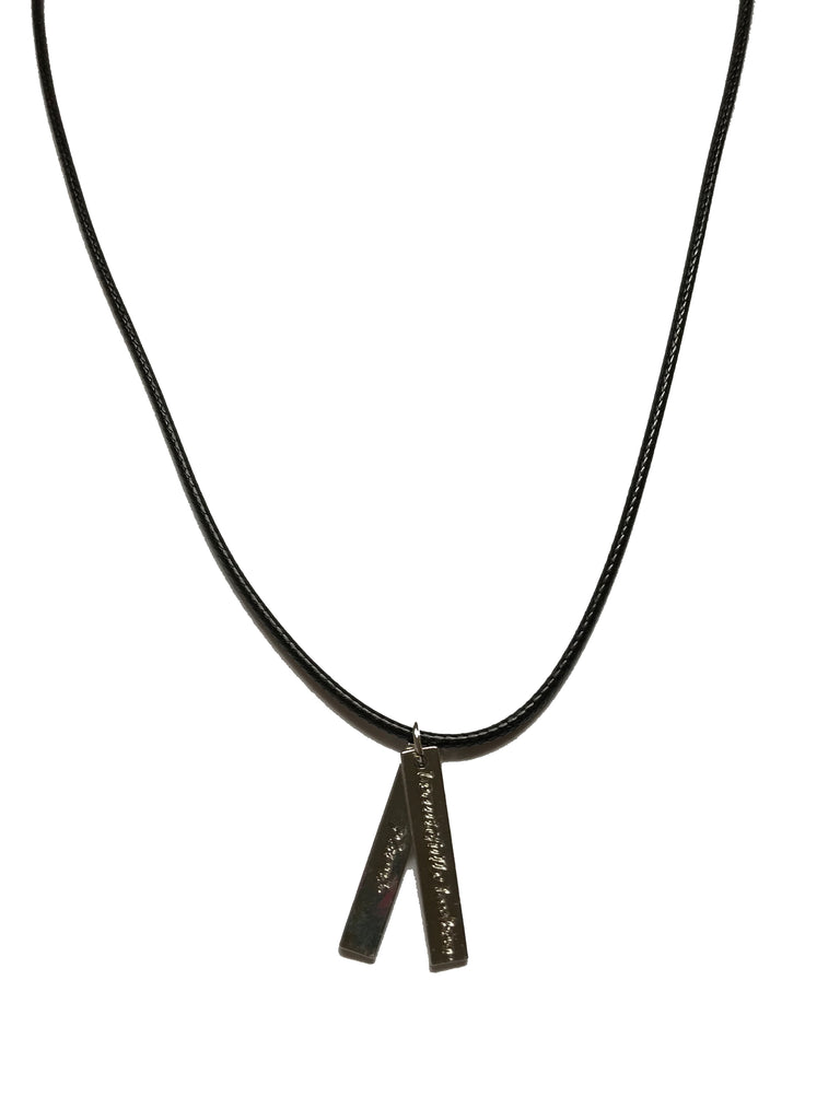 Jewelry - Beautifully Broken Black Leather Necklace
