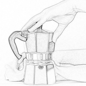 Step 4 of Nero Scuro Specialty Coffee Guide to Moka Pot Extraction - Nero Scuro Specialty Coffees