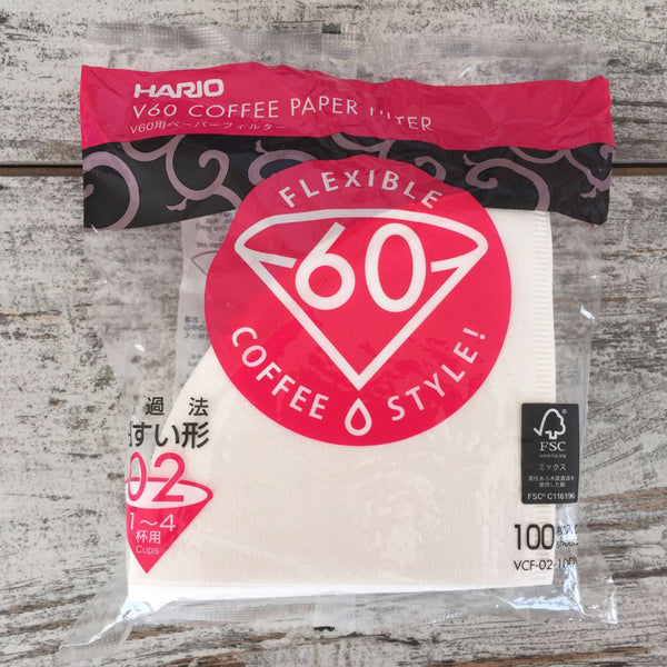 Hario Hario Paper Filter 02, White by Nero Scuro Specialty Coffees