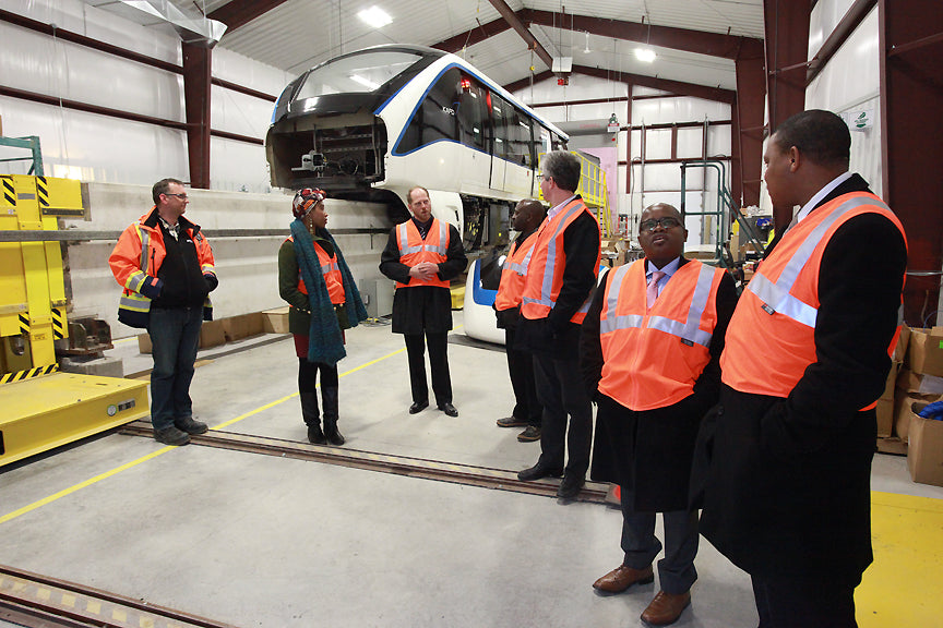 MAPP Africa delegation on site visit of the Bombardier Transportation plant in Kingston