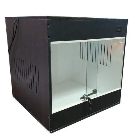 "***NEW*** 24""x24""x24"" CF/PVC FRONT SLIDING DISPLAY CAGE"