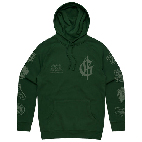 ACCOLADE VARSITY HOODIE - Forest Green