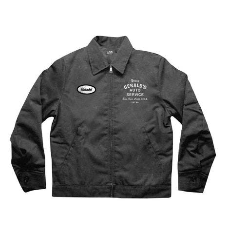 """Gerald's Auto Service"" MECHANIC JACKET (vintage black)"