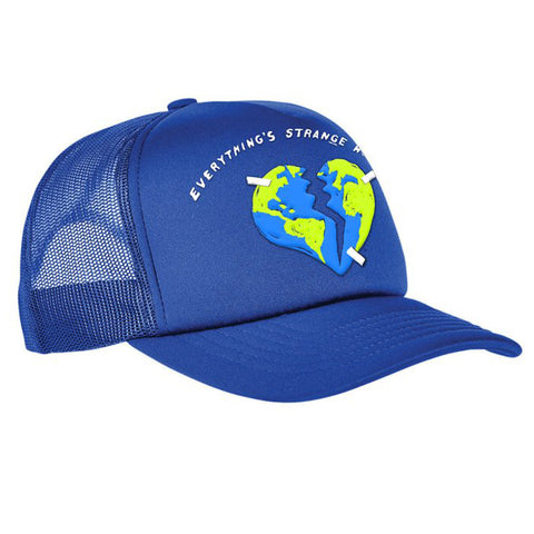 """BROKEN HEARTH"" TRUCKER CAP (royal blue)"