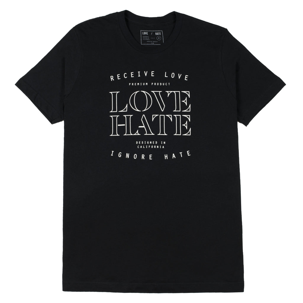 LOVE/HATE OUTLINE TEE