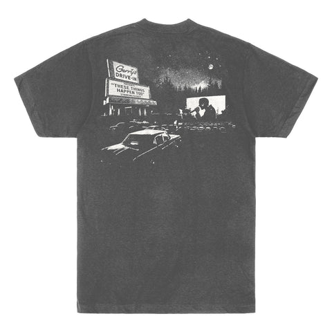 """Gerry's Drive-In"" TEE (vintage charcoal)"