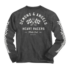 Heart Racer Long Sleeve Tee Vintage Charcoal)