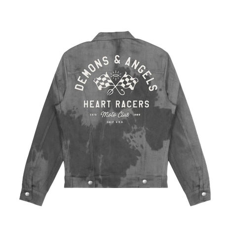 """Heart Racer"" DENIM JACKET (black/smoke)"