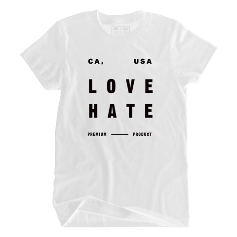 LOVE/HATE BLOCK TEE