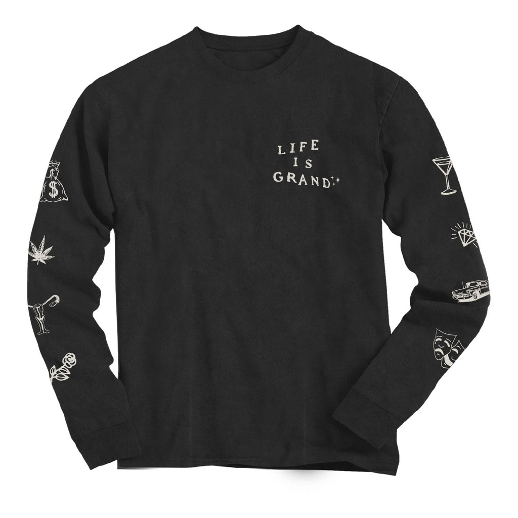 Last Dance Long Sleeve Tee (black)