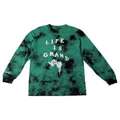 Green Clouds Long Sleeve Tee  (cloudy greens)