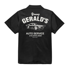 """Gerald's Auto Service"" MECHANIC SHIRT (black)"