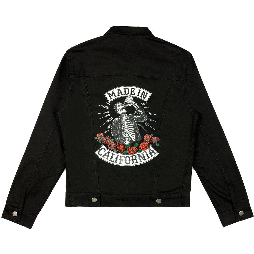 """Made In California"" Denim Jacket (Black)"