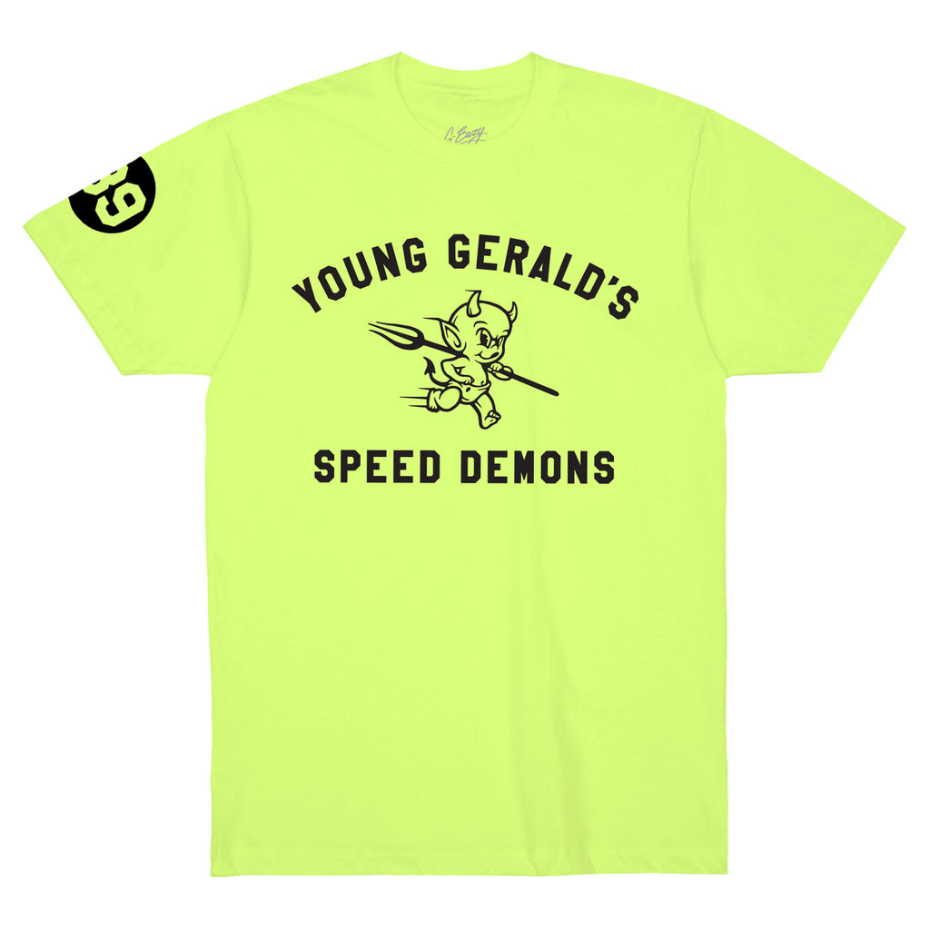 """Speed Demons"" TEE  (neon green)"