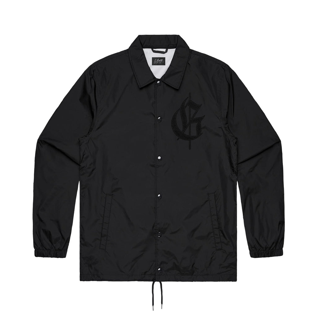 TTH NYLON COACH JACKET (black)