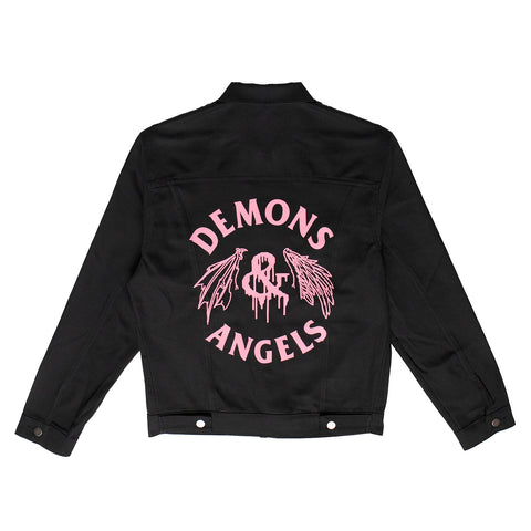 Wing Drip Denim Jacket (black)