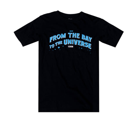 From the Bay to the Universe Blue Script Tee