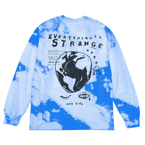 """SKY HIGH WONKY WORLD"" Long Sleeve Tee (sky blues)"
