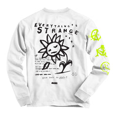 """FALLING PETAL"" Long Sleeve Tee (white)"