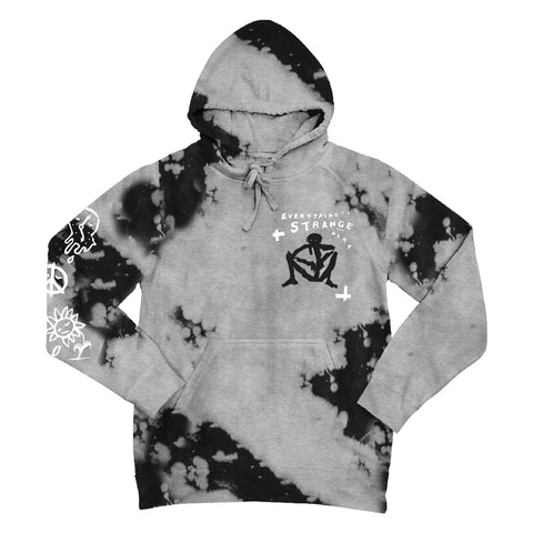 """STRANGE STICKMAN"" Hoodie (heather grey/black)"
