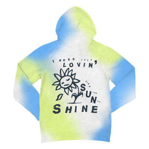 """SUNSHINE IN THE SKY"" Hoodie (white, sky, sun)"
