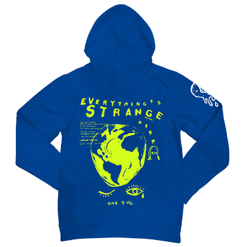 """WONKY WORLD"" Hoodie (royal blue)"